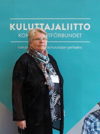 Kaakonkulman Kuluttajayhdistyksen puheenjohtaja Marja-Liisa Pöntynen