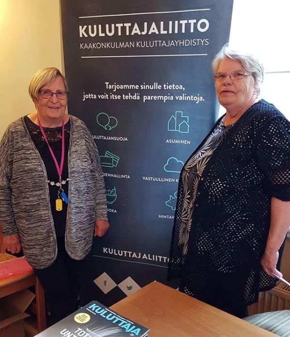 Kaakonkulman Kuluttajayhdistys Kumppanuustalo Hilman syntymäpäivillä 2019