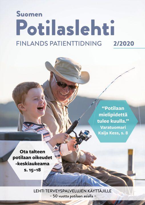 Suomen Potilaslehden numero 2/2020 kansikuva.