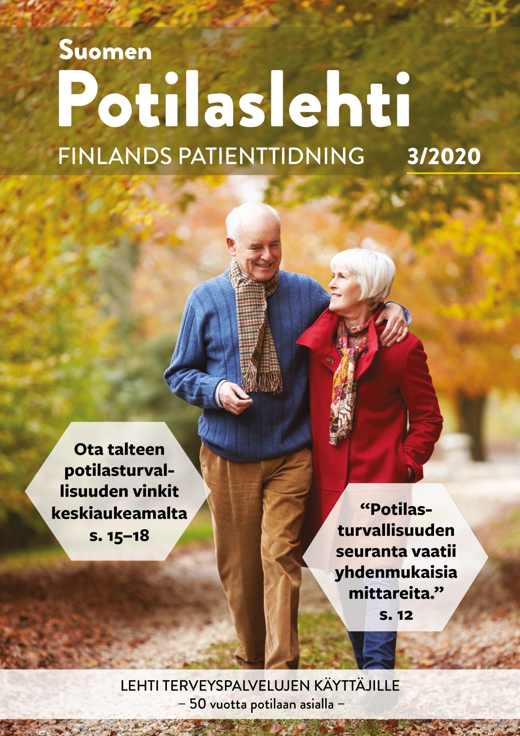 Suomen Potilaslehden numero 3/2020 kansikuva.