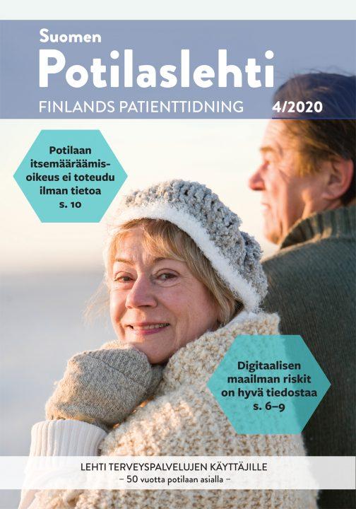 Suomen Potilaslehden numero 4/2020 kansikuva.